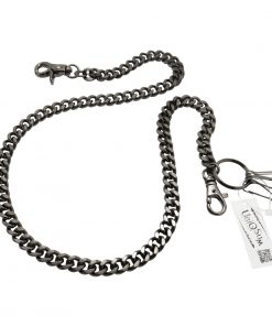 curb-cuban-chains-black-metal-wallet-chain-dog-collar-gun-metal-leash-cut-link-wallet-chains-biker-chain