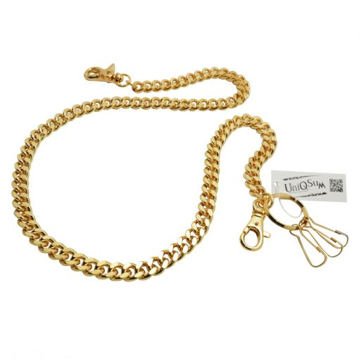 curb-cuban-chains-gold-metal-wallet-chain-dog-collar-leash-cut-link-wallet-chains-biker-hiphop-chain