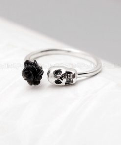 skull-rings-sugar-skull-ring-rose-skull-925-sterling-silver-rings-skull-jewelry