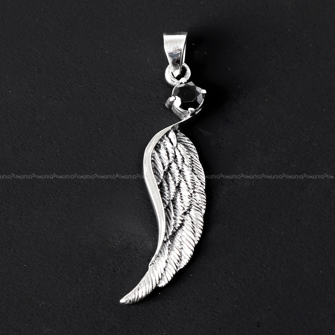 cb antique wing clara beau pendant silver crystal necklace jewelry