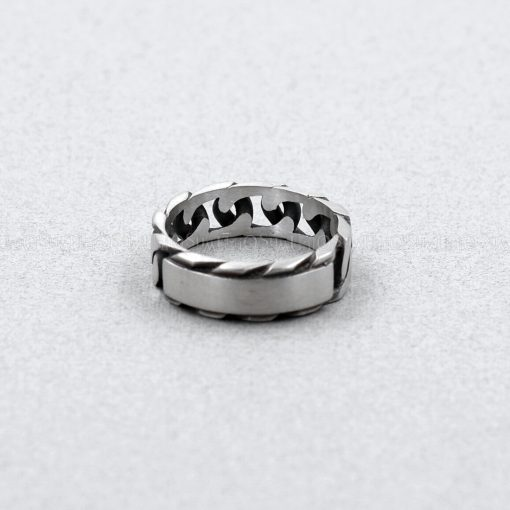 chain 925 silver rings for men vintage 925 Sterling silver chain ring initial silver ring unique jewelry