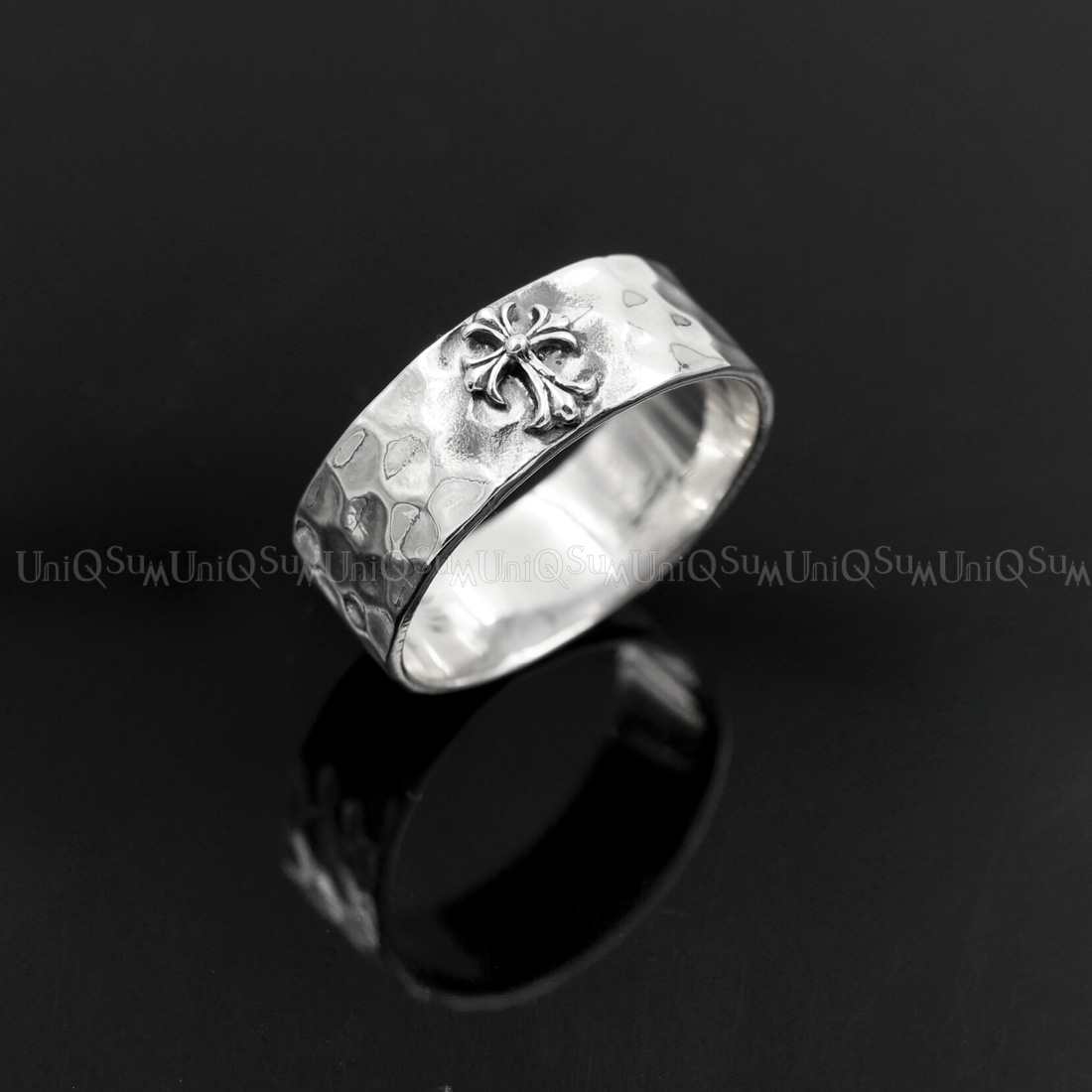 il products rough setting sterling bands silver chunky with grey diamond fullxfull and flat band ring dark prong
