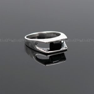 cubic zirconia rings 925R_BMCZ01B Black Cubic zirconia 925 sterling silver rings for women silver jewelry