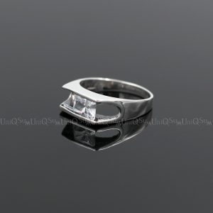 cubic zirconia rings Transparent White Cubic zirconia 925 sterling silver rings for women silver jewelry