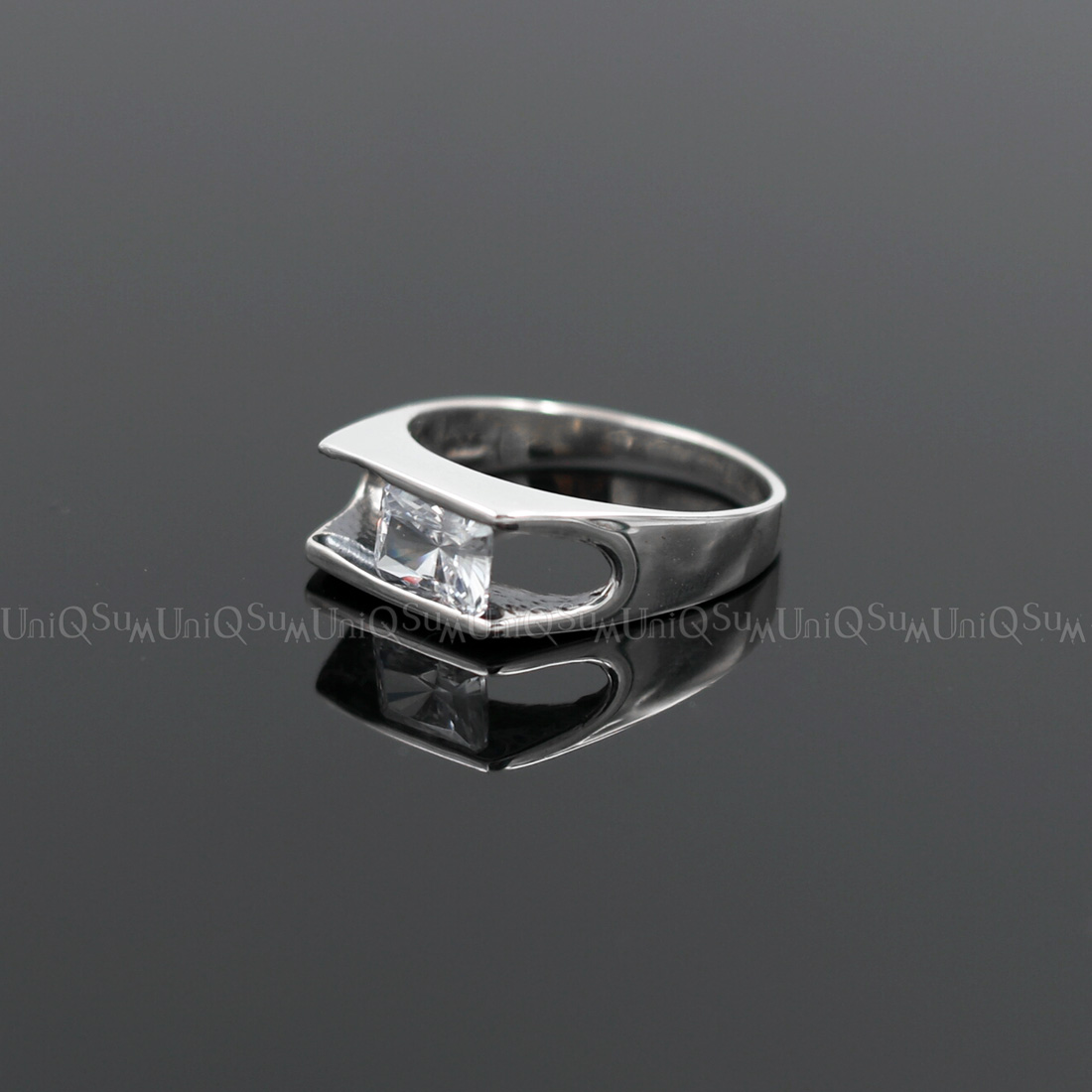 655d780919881 Movable 925 sterling silver Transparent Cubic zirconia Ring