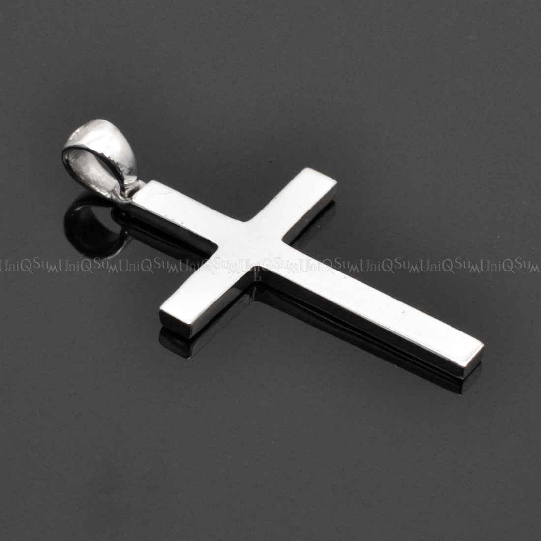 Basic sterling silver cross pendant uniqsum sterling silver charms pendant cross necklaces silver charms aloadofball Image collections