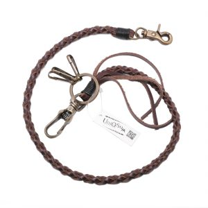 leather wallet chain Vintage brown leather wallet chains genuine leather chain wallet