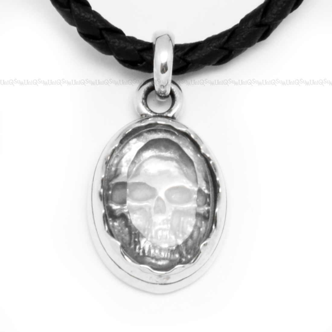Crystal skull sterling silver pendant uniqsum unique jewelry crystal skull pendant sterling silver charms for mens necklaces aloadofball Gallery