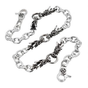 dragon wallet chains Silver Dragon ring wallet chain metal biker chains punk jewelry