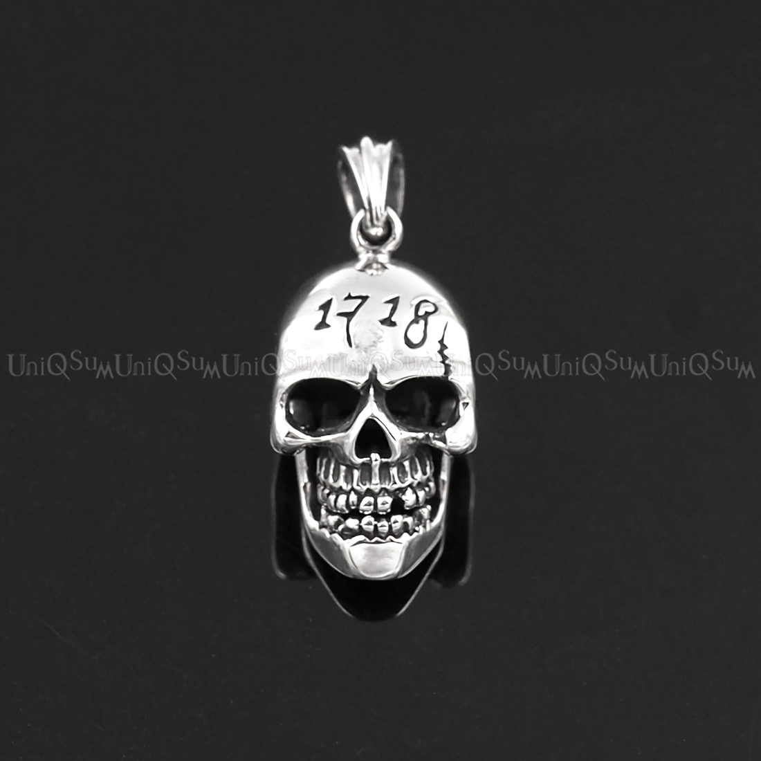 Sterling Silver Skull Pendants Movable mouth 925 sterling silver skull pendant uniqsum skull pendant movable mouth creepy skull silver pendant 925 sterling silver charms biker jewelry audiocablefo
