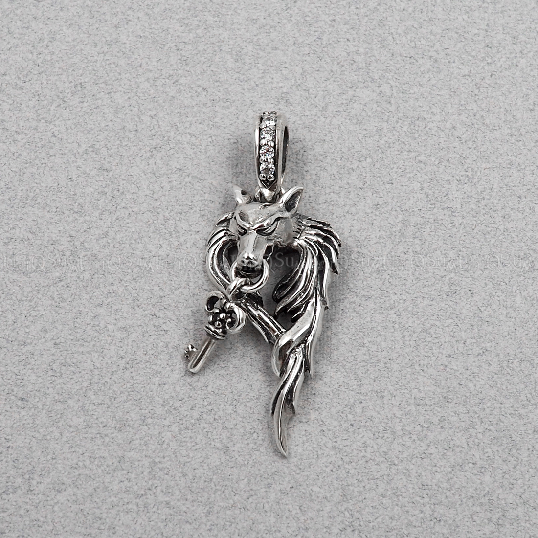 925 sterling silver wolf pendant with dangling key uniqsum wolf pendant key wolf 925 sterling silver pendants for mens necklaces key charm biker jewelry mozeypictures Choice Image