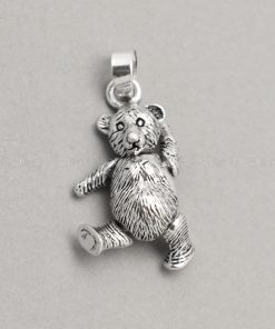 Sterling silver charms Movable Bear pendant 925 Silver necklaces charm