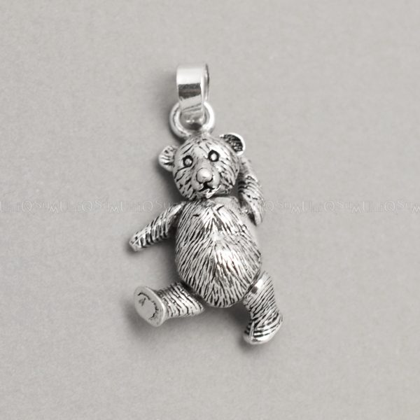 Movable 925 silver bear pendant uniqsum sterling silver charms movable bear pendant 925 silver necklaces charm aloadofball Images