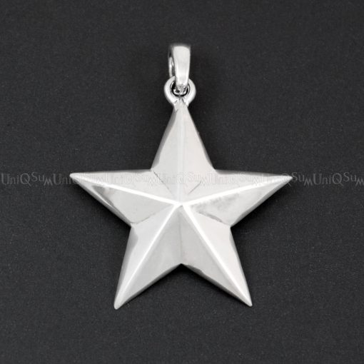 Sterling silver charms STAR pendant 925 Silver Pendants star charms