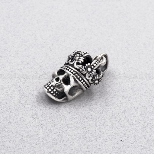 925 Sterling silver pendants King skull pendant skull jewelry unique jewelry