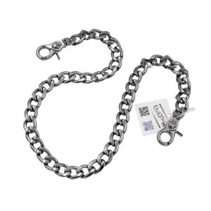 skull wallet chain Strong flat gun metal wallet chain skull jewelry keyring