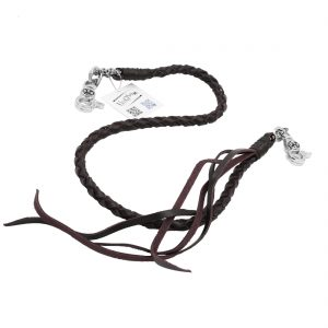 braided leather wallet chains Reddish Brown leather wallet chain cross wallet chain biker chains