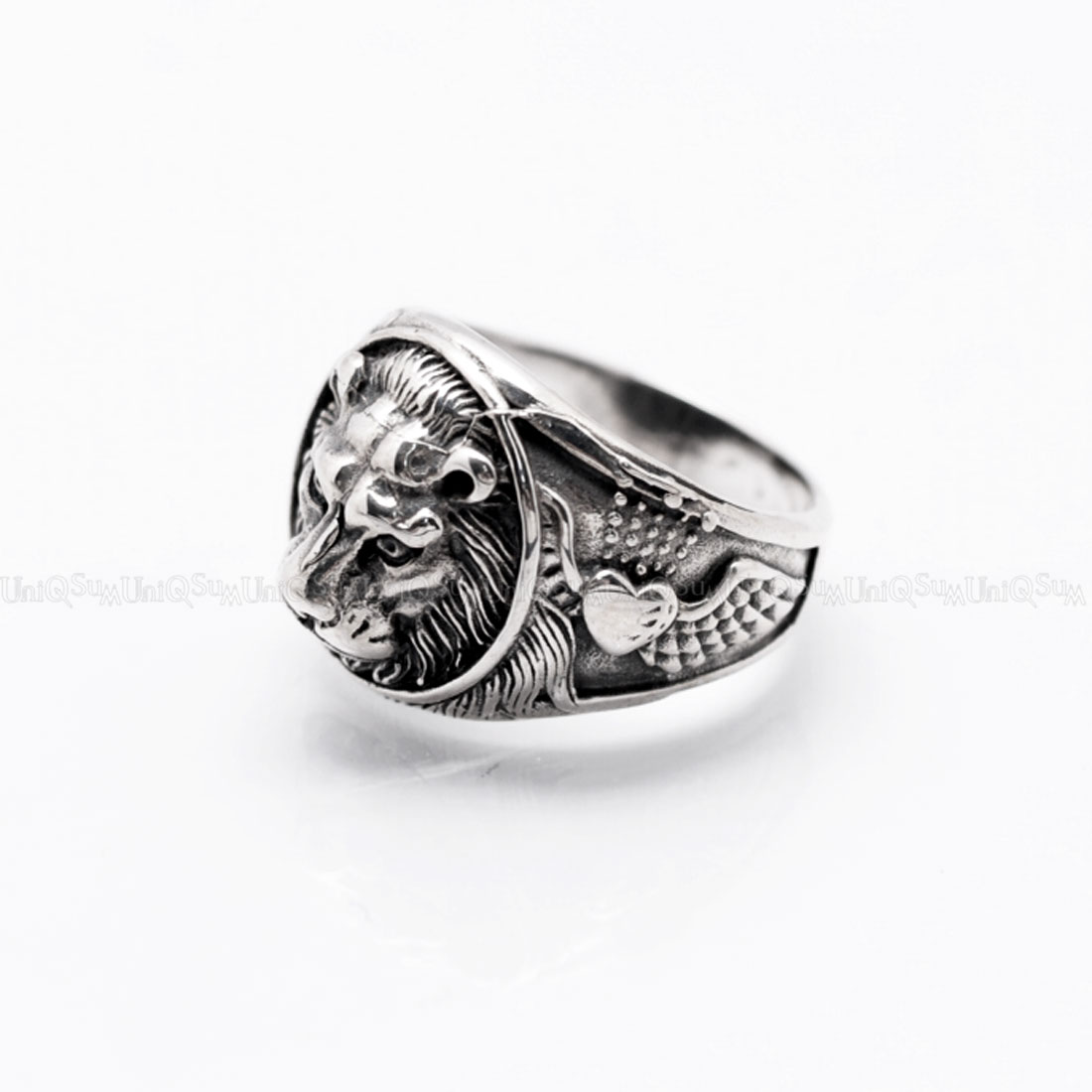 men quality skull top punk mentitanium man jewelry steel product head rings stainless ring size dual male