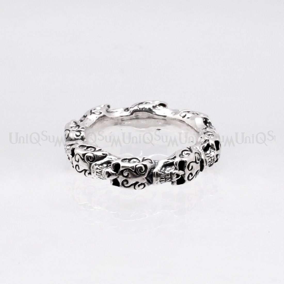ring silver sapphire jewellery white rings engagement emerald cut sterling