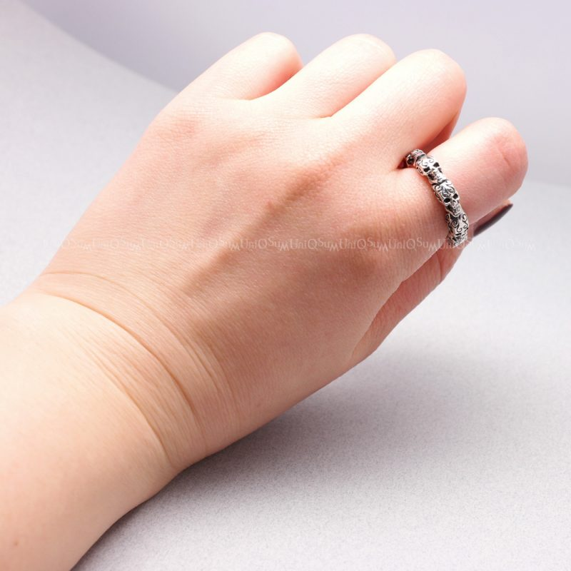 sterling silver vines band ring jewellery