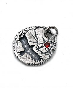eagle pendant Red sun 925 sterling silver pendant for mens necklace