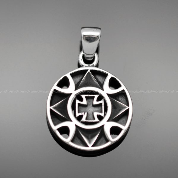 CROSS Sterling silver charms pendant Blooming Cross 925 sterling silver pendant charms necklace