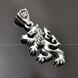Sterling silver charms pendant Wolf 925 sterling silver pendant charms necklace