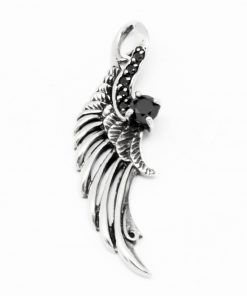 Wing pendant Feather pendant 925 silver wing charm