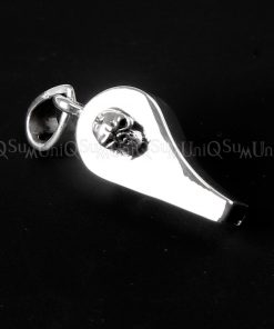 whistle silver pendant Skull charm 925 stelring silver whistle Pendants skull jewelry