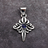 cloud pendant 925P_BU Blue cubic zirconia pendants 925 silver pendant for necklaces
