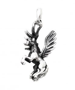 unicorn pendant silver flying unicorn 925 sterling silver pendant