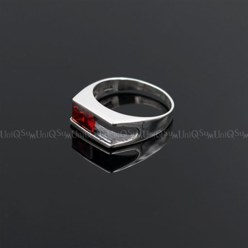 cubic zirconia rings Red Cubic zirconia 925 sterling silver rings for women silver jewelry