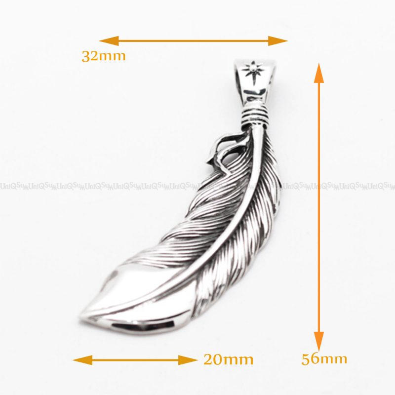 feather necklace 925 sterling silver feather pendant feather charm 4