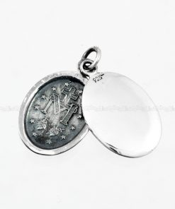 religious jewelry Double Miraculous Medals 925 Sterling Silver Pendants Blessed Virgin Mary St Pendant