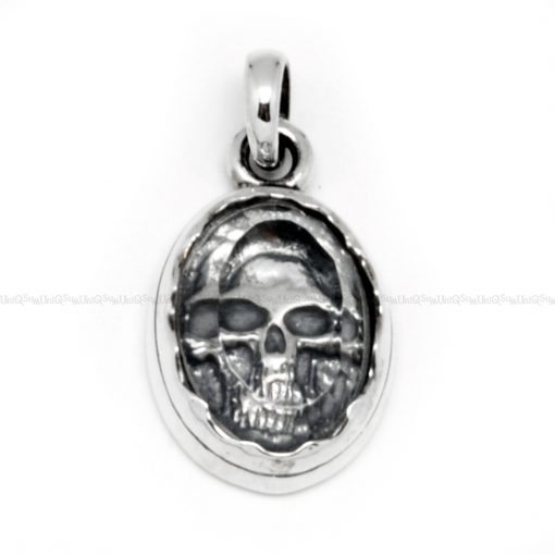 unique jewelry Crystal SKULL PENDANT Sterling silver charms for mens necklaces