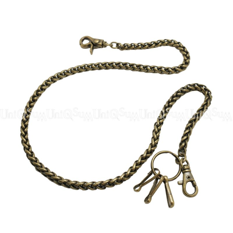 Wallet chains for Men women Basic rope wallet chain silver metal chain
