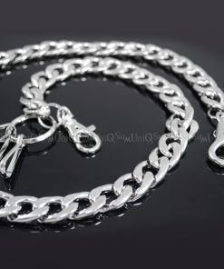 heavy wallet chain CH02HS Thick Flat wallet chains Basic silver metal biker chain punk hiphop jewelry