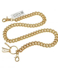 heavy wallet chains thick round metal wallet chain Gold metal biker chain punk
