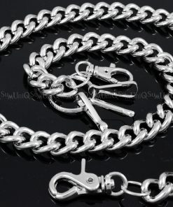 heavy wallet chains thick round metal wallet chain silver biker chain punk