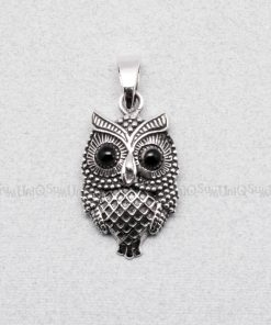 owl pendant Vintage cute owl silver pendants for necklace owl charms