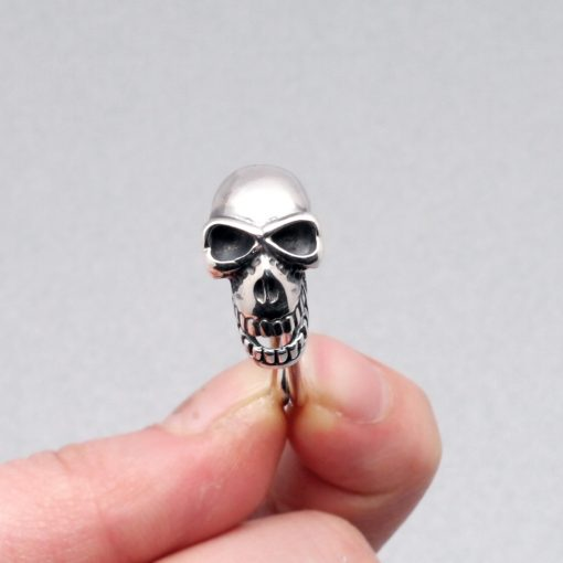 skull jewelry Skull pin 925 silver pendant charm Clothing safety pin
