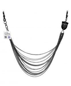 multiple wallet chain Black gun metal multiple lines skull wallet chain belly biker chains