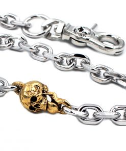 biker wallet chain Silver metal wallet chains skull chain Gold skull jewelry