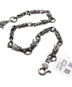 dragon wallet chain Dragon charm wallet chains gun metal biker chains