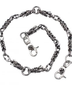dragon wallet chain Dragon charm wallet chains Silver metal biker chains