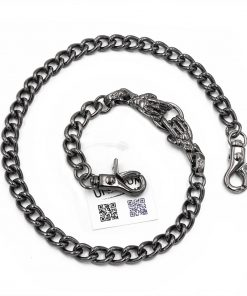 skull wallet chain gun metal jean chain biker jewelry