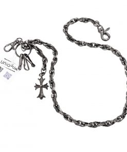 cross wallet chain Gun metal wallet chains cross jean chain biker jewelry