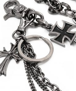 maltese cross wallet chain cross Gun metal wallet chains cross key chain biker chains