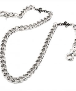 cross wallet chain CHSY123S Silver metal jean chain biker jewelry