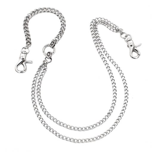 double wallet chain CHSY112S Silver metal maltese cross wallet chains biker chain